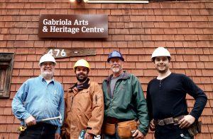 (L to R) Project Supervisor Guy Mireau, Derek Mourao, Tim Van Wieren, and Goerdie MacGregor. Photo by Nick Halpin.